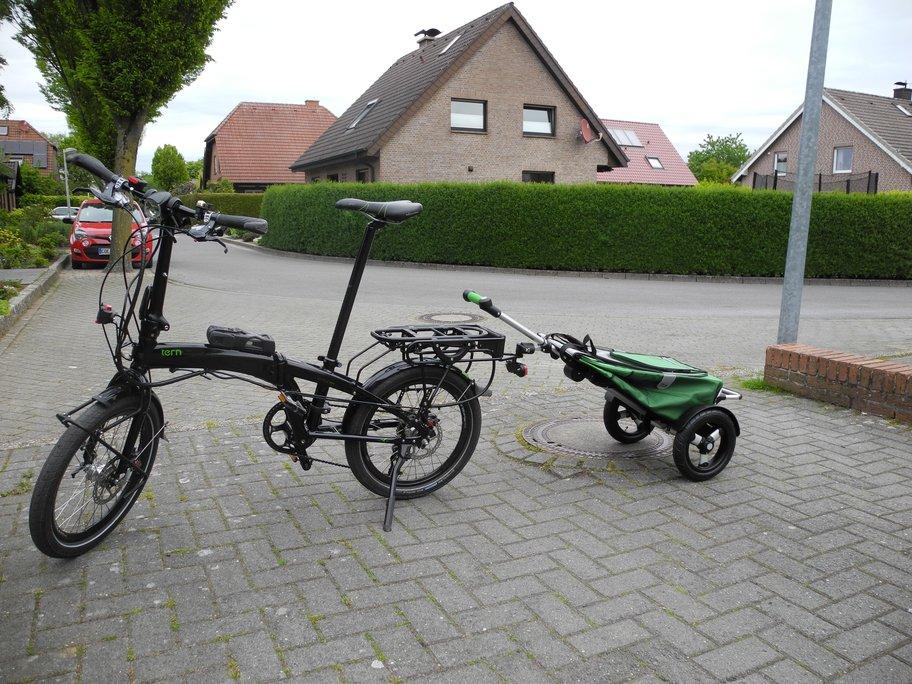 Großeinkauf mit dem Faltrad